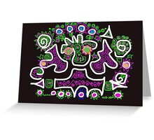 Fantasy in black Greeting Card