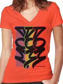 ART OF MOVEMENT CREW - TWILIGHT URBAN Women's Fitted V-Neck T-Shirt