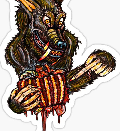 Werewolf With A Manwich Sticker