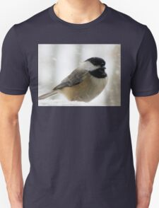 Chickadee In Snowstorm T-Shirt