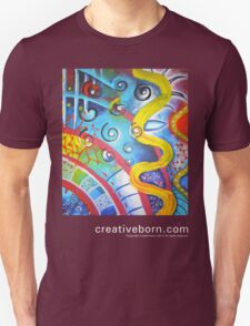 Attack of the Killer Spirals, Abstract painting t-shirt Unisex T-Shirt