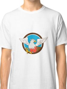 Hiippogryph With Talons Circle Cartoon Classic T-Shirt