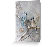 A Pair of Jays Greeting Card