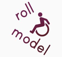 Roll Model - Disability Tees - in purple by incurablehippie