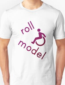 Roll Model - Disability Tees - in purple T-Shirt