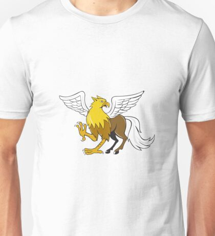 Hippogriff Prancing Isolated Cartoon Unisex T-Shirt
