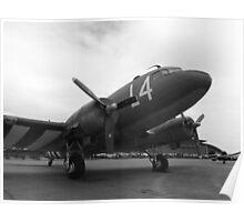 C-47 Skytrain , Duxford Spring 2015 Poster