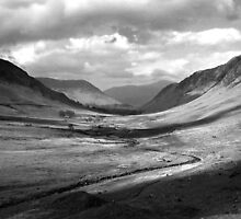 Newlands Valley  b&w by mikebov