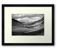 Newlands Valley  b&w Framed Print