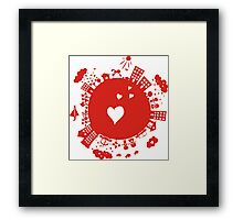 planet in love Framed Print