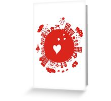planet in love Greeting Card