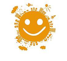 smiling planet Photographic Print