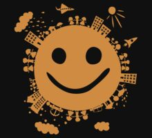 smiling planet Kids Tee