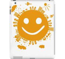 smiling planet iPad Case/Skin