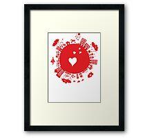 planet in love Framed Print