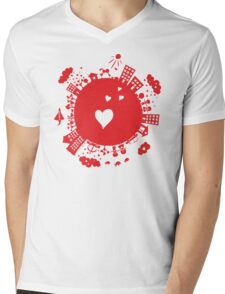 planet in love Mens V-Neck T-Shirt