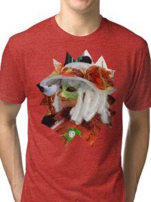 Curly white hair Tri-blend T-Shirt