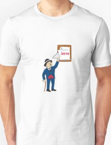 Bowler Hat Man Peeling 2016 Calendar T-Shirt