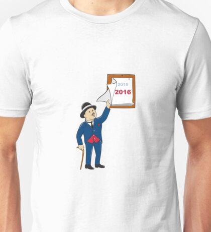 Bowler Hat Man Peeling 2016 Calendar Unisex T-Shirt