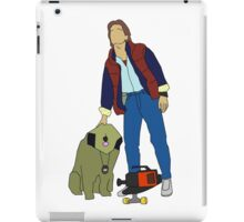 Back To The Future Marty & Einstein  iPad Case/Skin