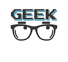 Geek wearing glasses Photographic Print