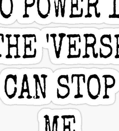 No Power in the 'verse Sticker