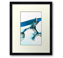 Shear Blue Framed Print