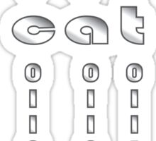 cat in binary and morse code Sticker