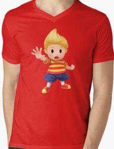 Lucas Super Smash Bros. for Wii U and 3DS Mens V-Neck T-Shirt