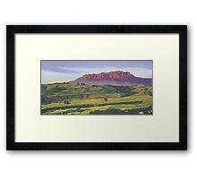 Mt Roland near Sheffield Tasmania Framed Print