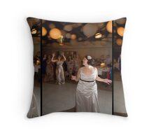 Bridal boquet toss - Tryptich Throw Pillow