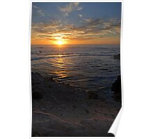 Sunset over South Australian Limestone Coast  Poster