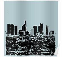 Los Angeles Skyline Stamp  Poster