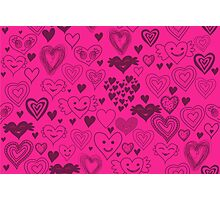 hearts card Photographic Print