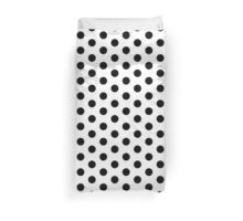 Black and White Dalmatian Polka Dot Duvet Bedspread Duvet Cover