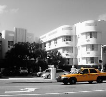 Big Yellow Taxi on Collins by SpencerCopping