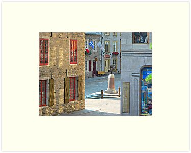 Rue Sous-le-Fort And Louis XIV Monument, Old Quebec City by Yannik Hay