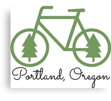 Portland - PDX - City of Trees and Bicycles Canvas Print