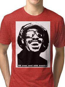 stevie wonder- fill your soul with wonder Tri-blend T-Shirt