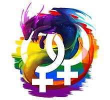 Lesbian Pride Dragon by kaenith