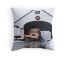 Smith Covered Bridge   Throw Pillow
