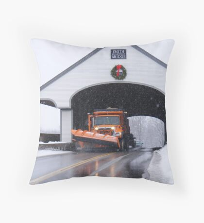 Smith Covered Bridge   Throw Pillow