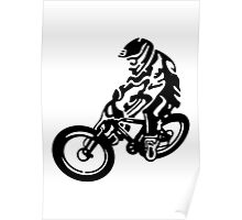 Black and White MTB Poster