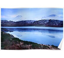 snowy mountains-Kerry Poster