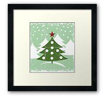 winter card Framed Print