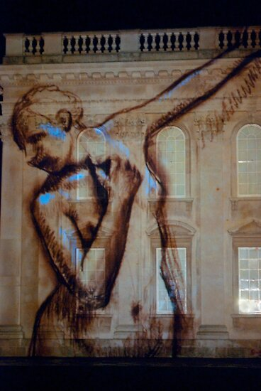Dancing projection - Kings College Cambridge by evilcat