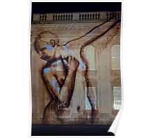 Dancing projection - Kings College Cambridge Poster