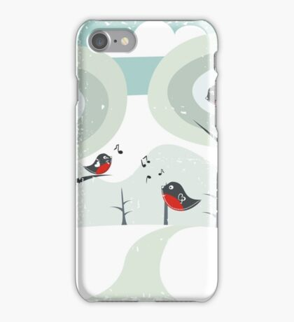 winter card iPhone Case/Skin
