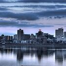 1-20-10 THE SKYLINE AT DUSK by Diane Peresie