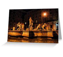 La Fontana del Moro Greeting Card